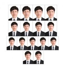 실속셋트,(여권4매,운전주민4매,이력서(3x4=6매),증명사진인화,셀프증명사진, 포토샵만족100%